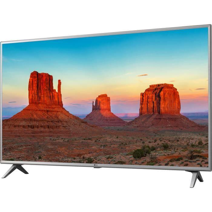 LG 50UK6500 TV LED 4K UHD 126 cm (50-) - SMART TV - 4 x HDMI - 2 x USB - Classe énergétique A