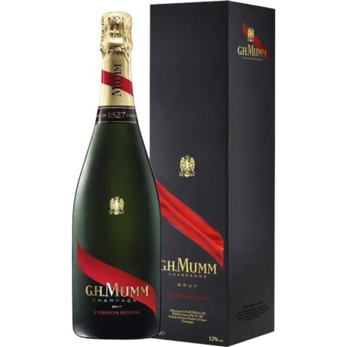 Champagne Mumm Cordon Rouge avec étui - 75 cl