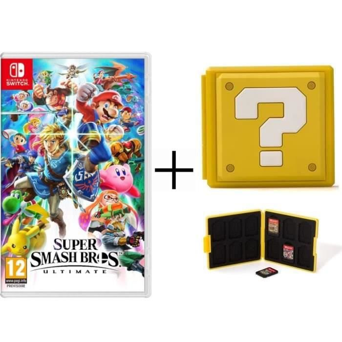 Super Smash Bros Ultimate + Boîtier pour jeux Switch - Question Block Jaune