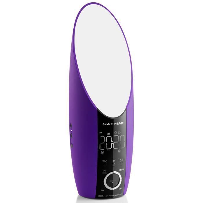 NAF NAF DNI050 ZEN Réveil lumière LEDS MP3 USB Prune