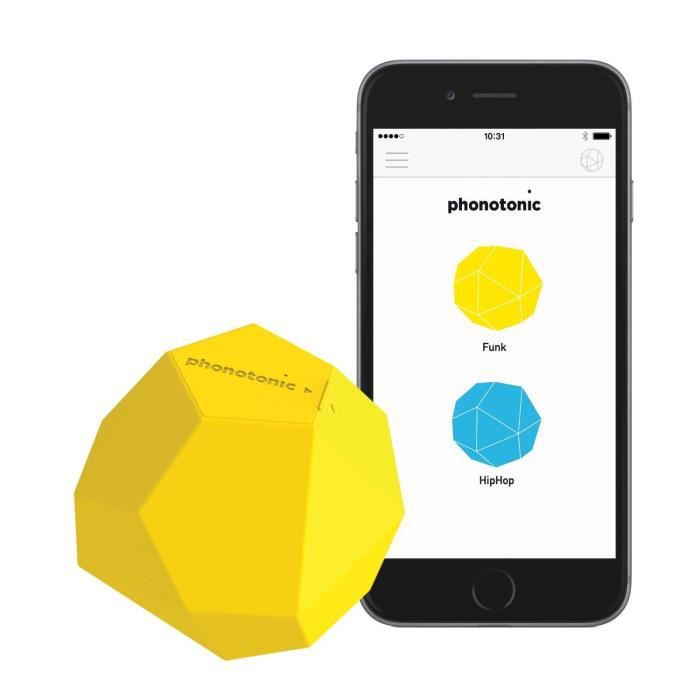 Phonotonic - Capteur de musique pour Smartphone/Tablette - Jaune