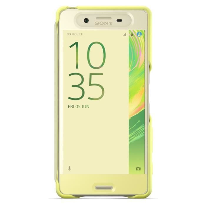 Sony Flip Cover Touch pour Xperia X Performance Jaune