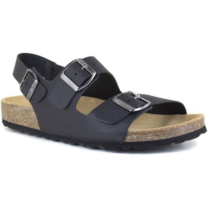J.BRADFORD Chaussures Sandales JB-Malou Noir Homme