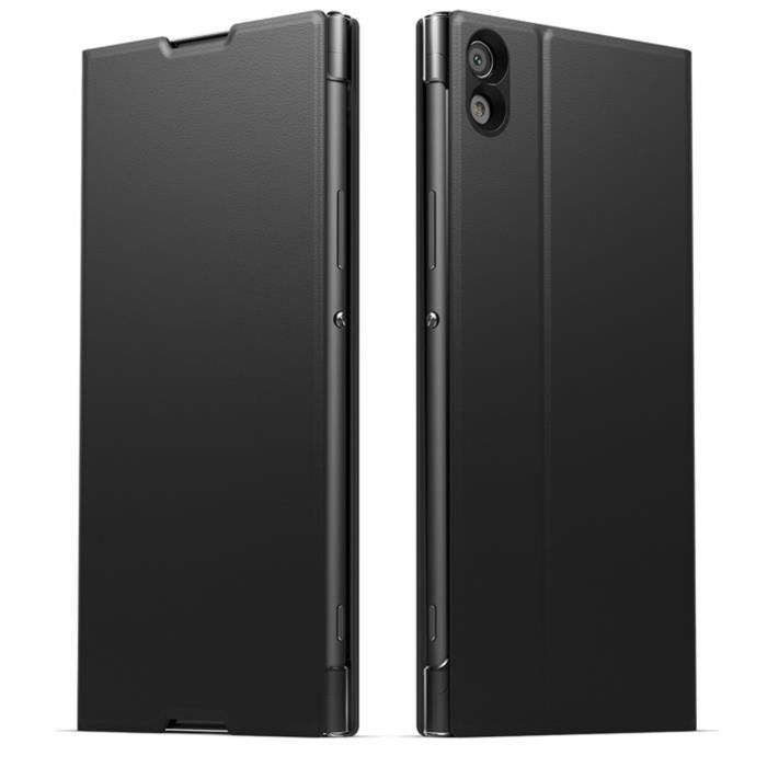 Sony Coque Style cover Stand pour Xperia XA1 Ultra Noir