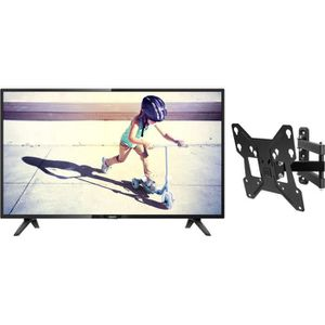 Pack PHILIPS 32PHT4112 TV LED HD 80 cm + ONE FOR ALL WM2251 Support mural avec réglage d'inclinaison et de rotation