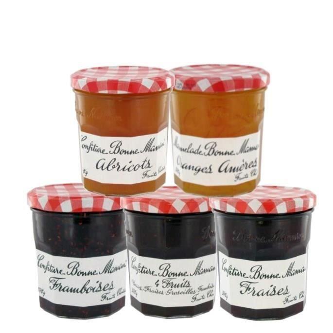 Andros - Assortiment de 5 variétés de confitures 450g