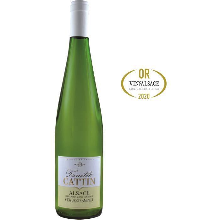 Famille Cattin Gewurztraminer 2019 Alsace - Vin blanc d'Alsace