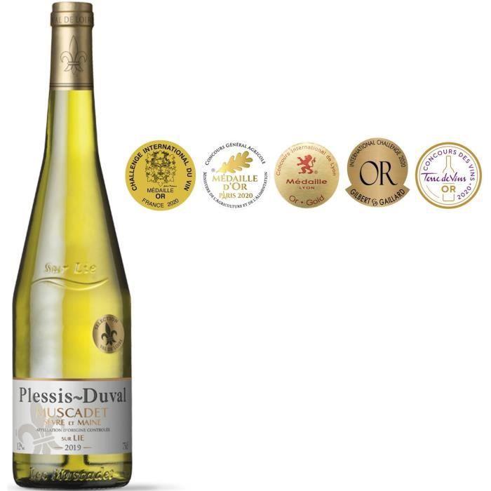 Plessis-Duval 2020 Muscadet Sèvre et Maine sur Lie - Vin blanc de Loire