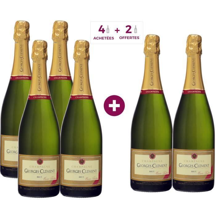 4 achetées + 2 offertes - Champagne Georges Clément