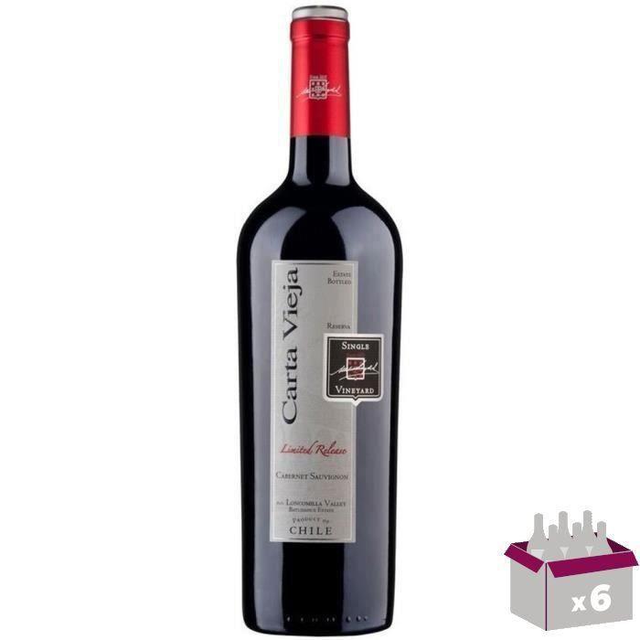 CARTA VIEJA Reserva Cabernet Sauvignon Vin du Chili - Rouge - 75 cl x 6