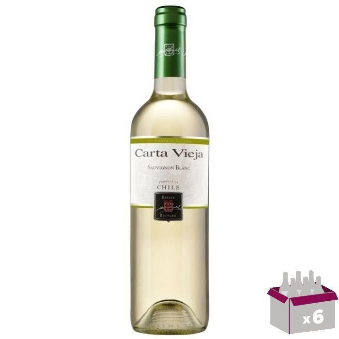 CARTA VIEJA Varietal Sauvignon Vin du Chili - Blanc - 75 cl x 6