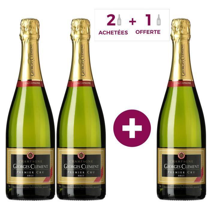 2 achetées + 1 offert - Champagne Georges Clément Premier Cru