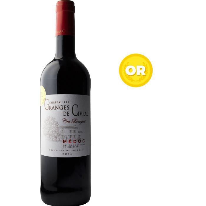 Château Les Granges de Civrac 2015 Médoc Cru Bourgeois - Vin rouge de Bordeaux