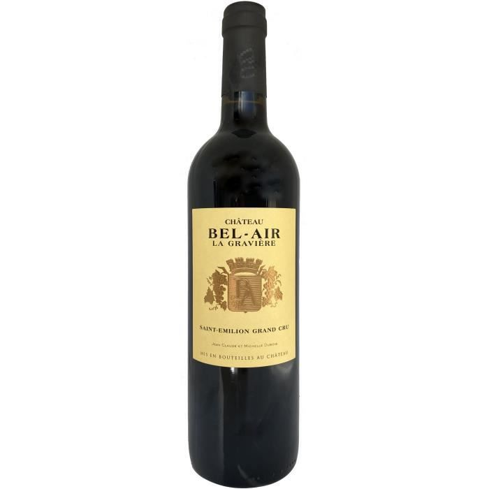 Château Bel-Air La Gravière 2016 Saint-Emilion Grand Cru - Vin rouge de Bordeaux
