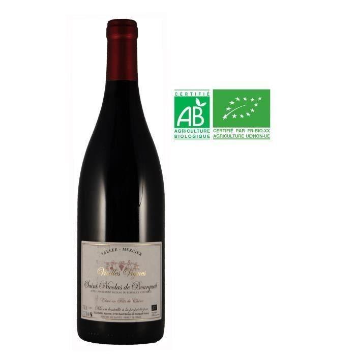 Domaine Vallée Mercier 2016 St Nicolas de Bourgueil - Vin rouge de Loire - Bio