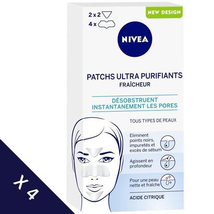 [Lot de 4] NIVEA Patch Ultra Purifiants Fraîcheur