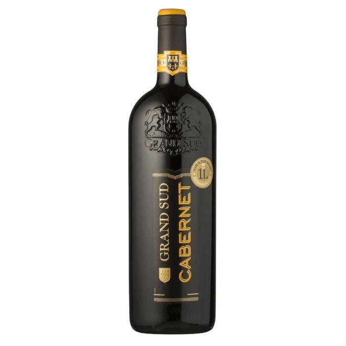 Grand Sud Cabernet IGP Pays d'Oc - Vin rouge du Languedoc Roussillon - 1L
