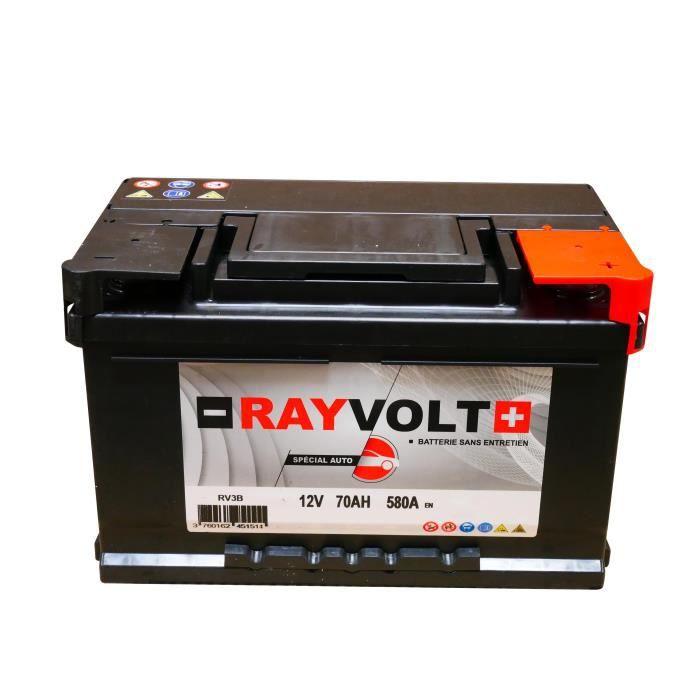 Batterie auto RAYVOLT RV3B 70AH 580A