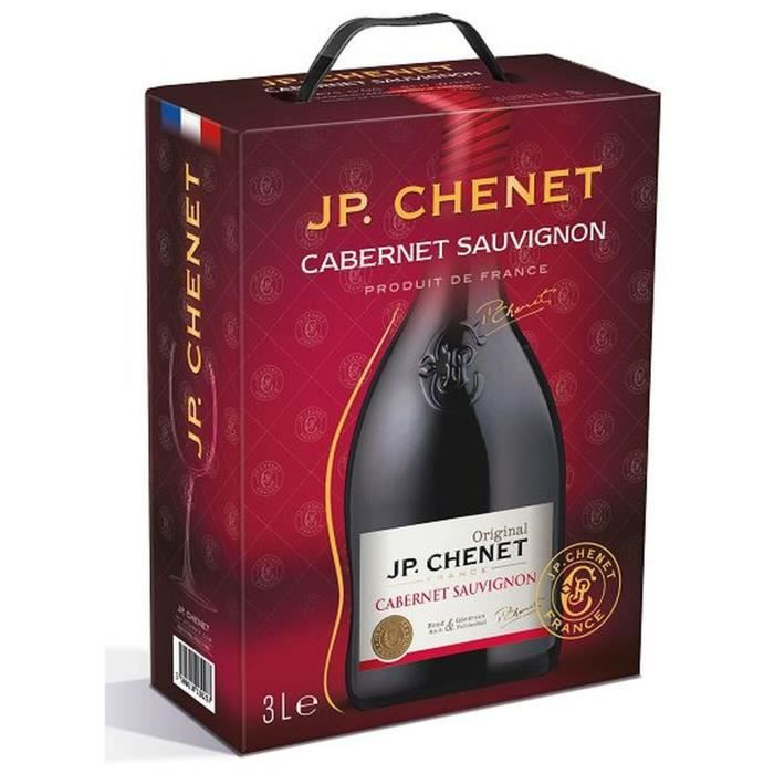 JP Chenet IGP Pays d'Oc Cabernet Sauvignon - Vin rouge du Languedoc Roussillon - 3L