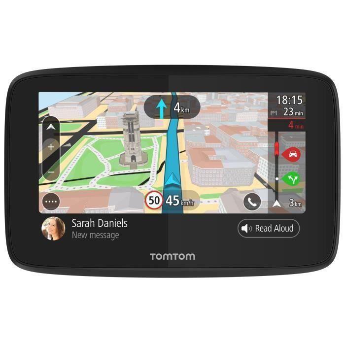 TOMTOM GO 5200 Cartographie Monde Trafic Zones de Danger à vie et Appel Mains-Libres (1PL5.002.04) Noir