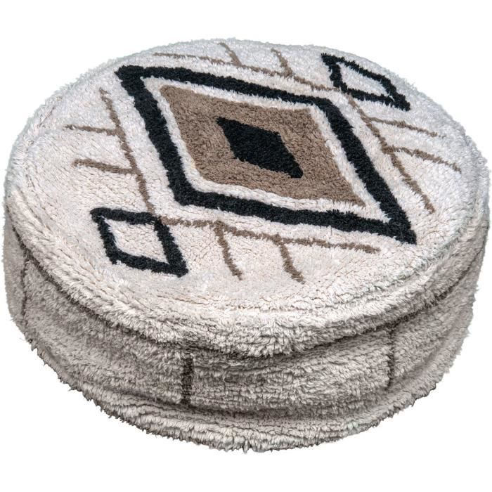 VADIGRAN Pouf Berber - 50x50x20 cm - Caramel - Pour chien