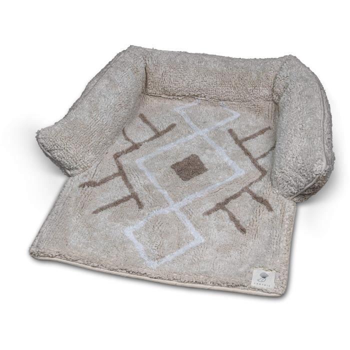 VADIGRAN Sofa bed Berber - 80x60x7 cm - Caramel - Pour chien