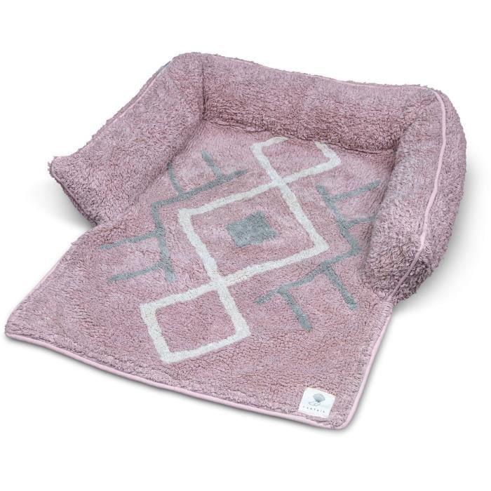 VADIGRAN Sofa bed Bobo - 80x60x7 cm - Rose - Pour chien