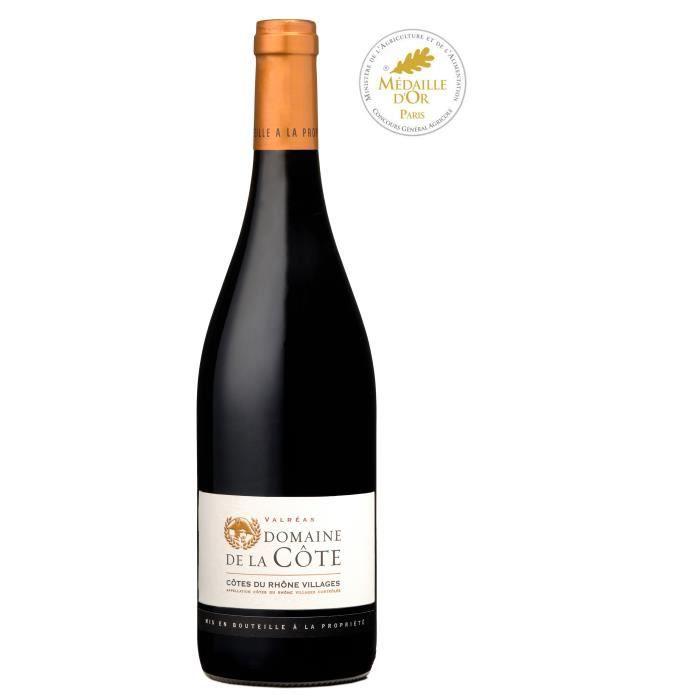 Domaine de la Côte 2018 Côtes du Rhône et Villages Valréas - Vin rouge de la Vallée du Rhone