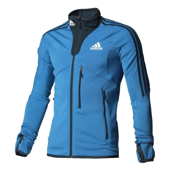 ADIDAS PERFORMANCE Veste Fleece Jkt W Bleu Homme