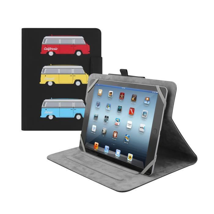 TNB Etui Folio universel tablette 10 pouces - utab360van - étui rotatif 360° - simili cuir - design surf