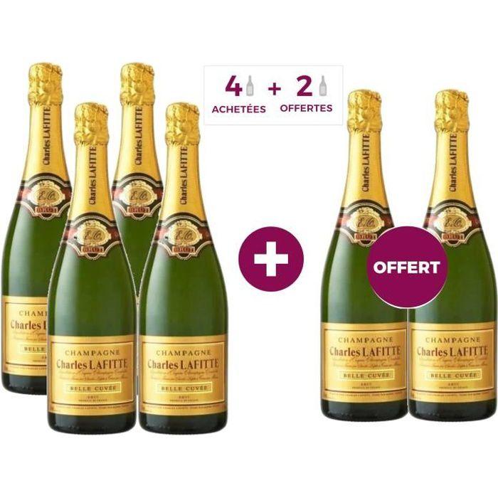 4 achetées + 2 offertes - Champagne Charles Lafitte Belle Cuvée