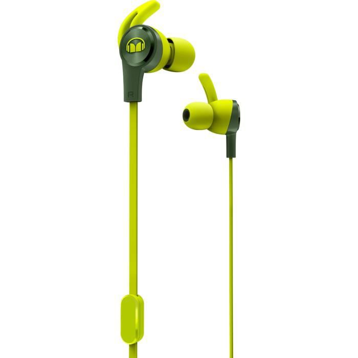 MONSTER ISPORT ACHIEVE Ecouteurs Sport intra-auriculaires Verts