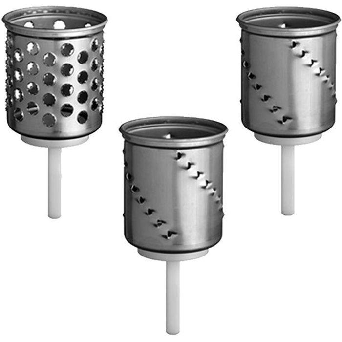 KITCHENAID Accessoires 5KSMEMVSC Set de 3 cylindres à râper pour robot pâtissier KITCHENAID