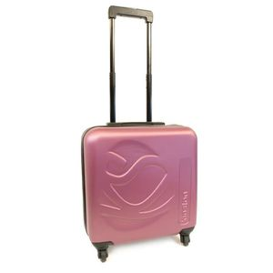 KINSTON Valise Cabine Low Cost Rigide ABS 4 Roues 46 cm Violet
