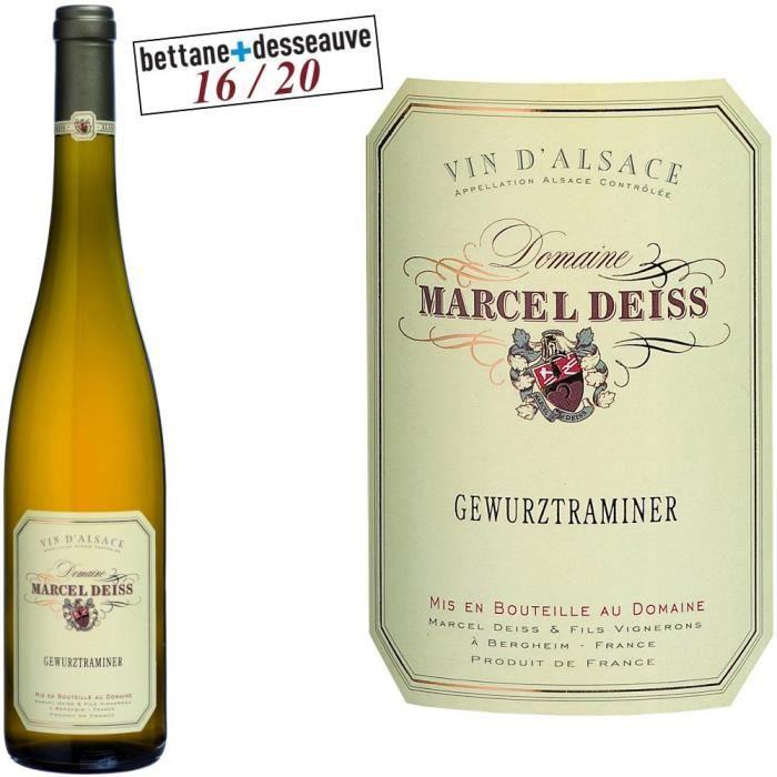 Domaine Deiss Gewurztraminer - Vin blanc d'Alsace