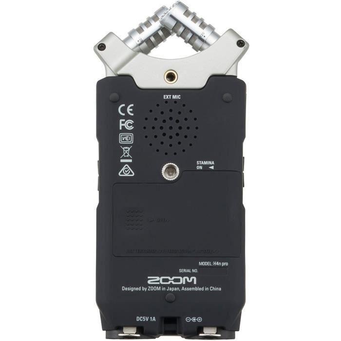 Zoom H4NPRO Enregisteur multipiste numérique 4 pistes - 2 micros à condensateur en configuration X/Y avec angle de pri