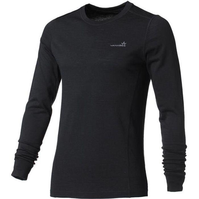 WANABEE Sous-vêtement de randonnée WoolwarSml - Homme - Noir