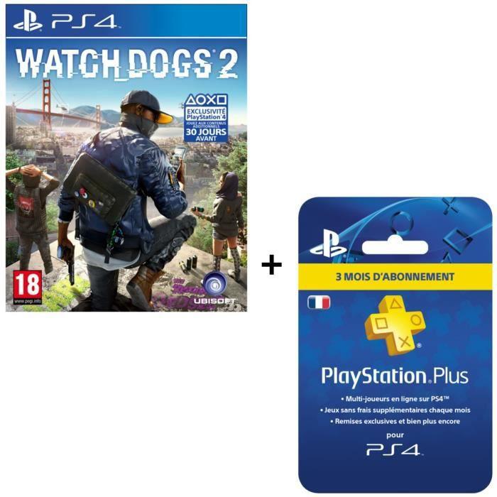 Watch Dogs 2 + Abonnement PlayStation Plus 3 mois