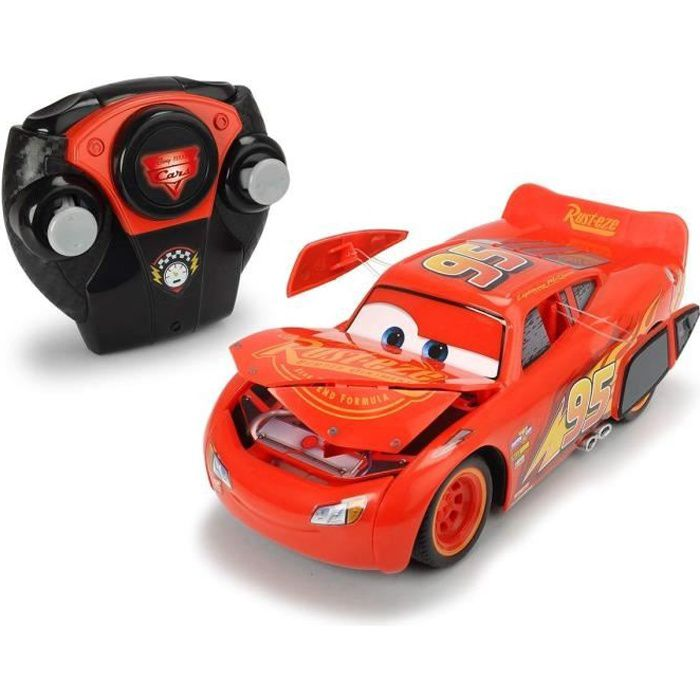 CARS 3 Voiture radiocommandé Mc Queen Crash - Echelle 1/24eme