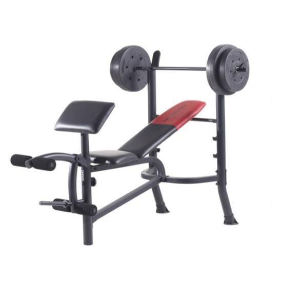 WEIDER Banc de musculation Pro 265 - Noir et Rouge