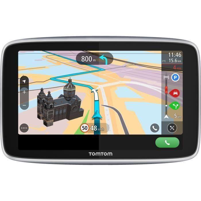 TomTom GO Premium 6'' - GPS auto 6 pouces, cartographie monde 152 pays, carte SIM intégrée, technologie IFTTT