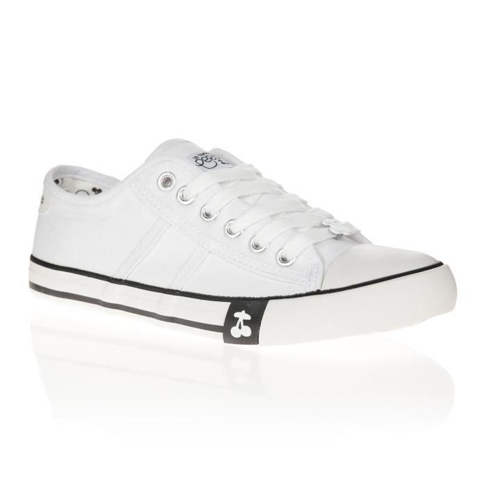 LE TEMPS DES CERISES Chaussures Easy White Blanc Femme