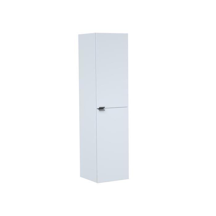 ZOOM Colonne de salle de bain L 30 cm - Blanc laqué brillant