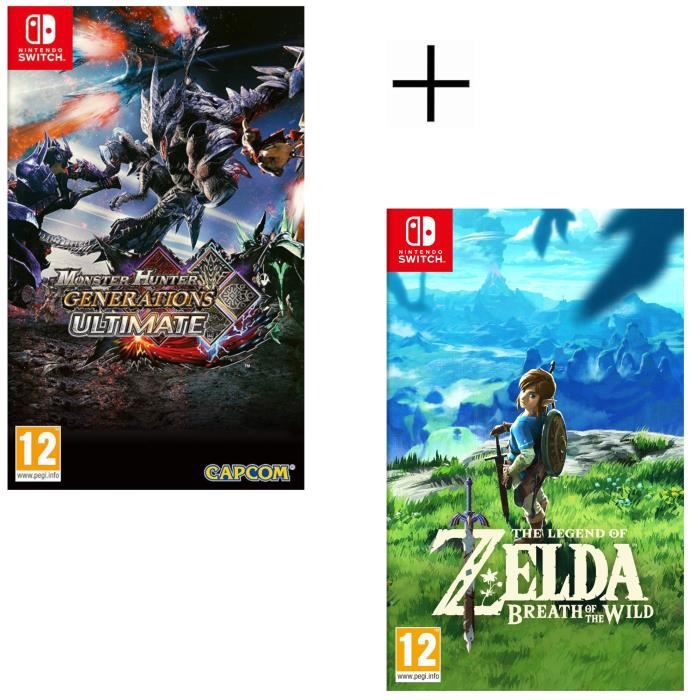 Monster Hunter Generations Ultimate + The Legend of Zelda : Breath of the Wild Jeu Switch