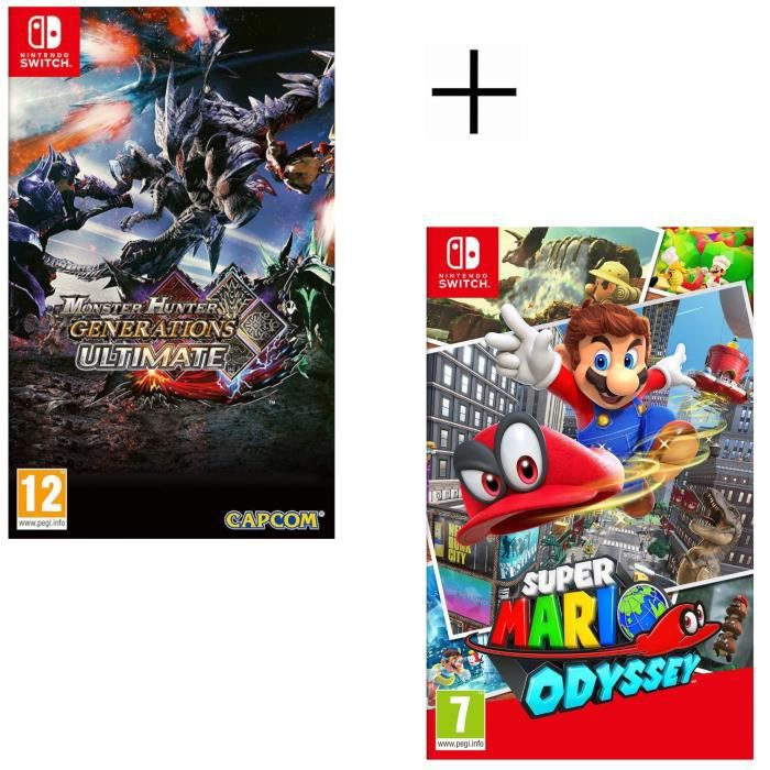 Monster Hunter Generations Ultimate + Super Mario Odyssey Jeu Switch