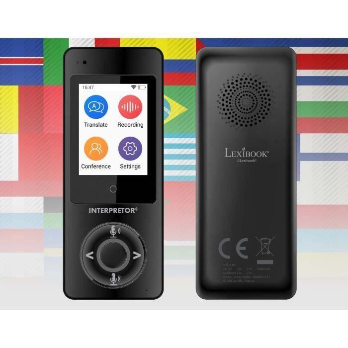 LEXIBOOK Interpreteror® Vocal Translator Base instantanée sur l'intelligence artificielle - 45 langues