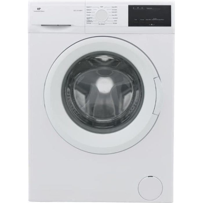 Lave-linge hublot CONTINENTAL EDISON CELL1014IWP1 - 10kg - Moteur induction - Largeur 59,7 cm - 1400 tours/min - blanc