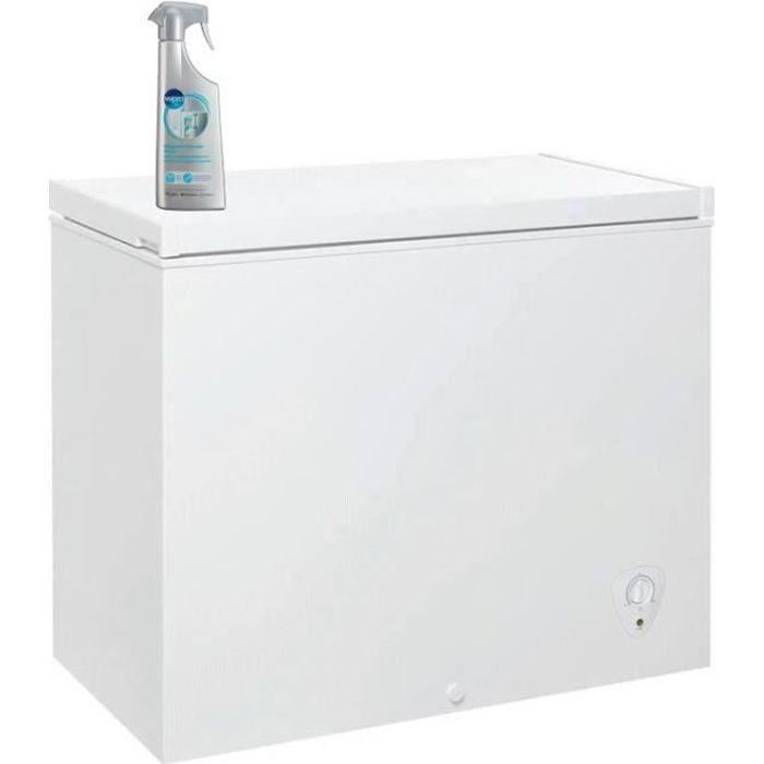 Pack OCEANIC - Congélateur coffre - 194L - A+ - Froid statique - Blanc + WPRO DEF102 Dégivrant congélateur