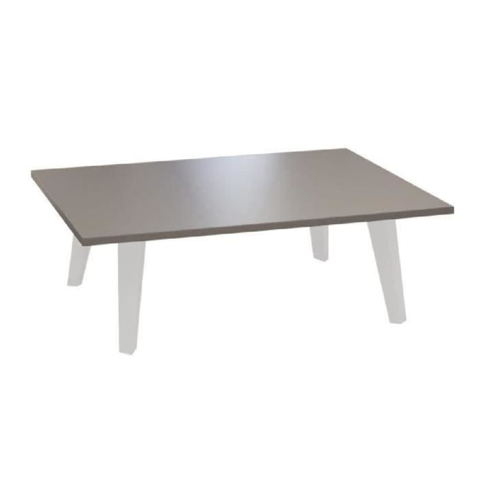 OSLO Table basse L89 cm taupe/blanc