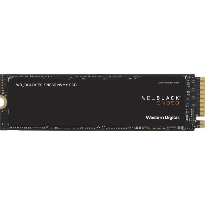 WD Black™ - SSD Interne - SN850 - 500Go - M.2 NVMe (WDS500G1X0E)